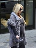 Jessica Simpson headed to a meeting in NYC's fashion district.