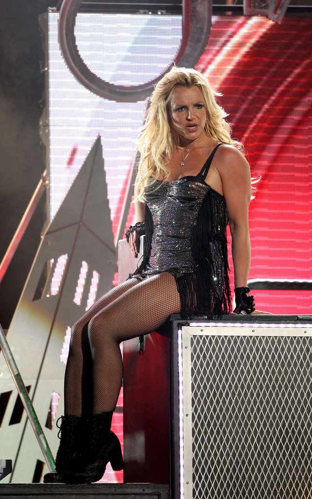 Britney Spears didn't tone it down for Jimmy Kimmel Live in March 2012.