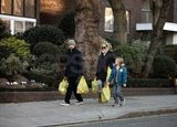 Matthew Bellamy, Kate Hudson, and Ryder Robinson went shopping in London.