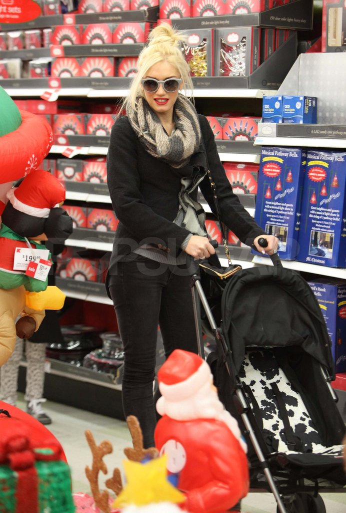 Gwen Stefani shopping at Sears.