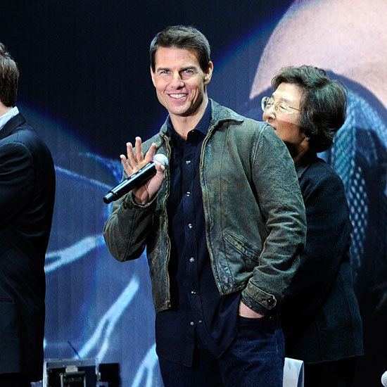Tom Cruise was happy to be in Tokyo.