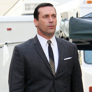 Jon Hamm & John Slattery on Mad Men Set Pictures