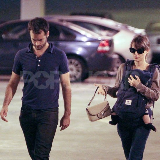 Natalie Portman and Benjamin Millepied brought baby Aleph out for errands.