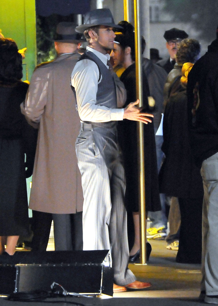 Ryan Gosling shot outdoors in LA.
