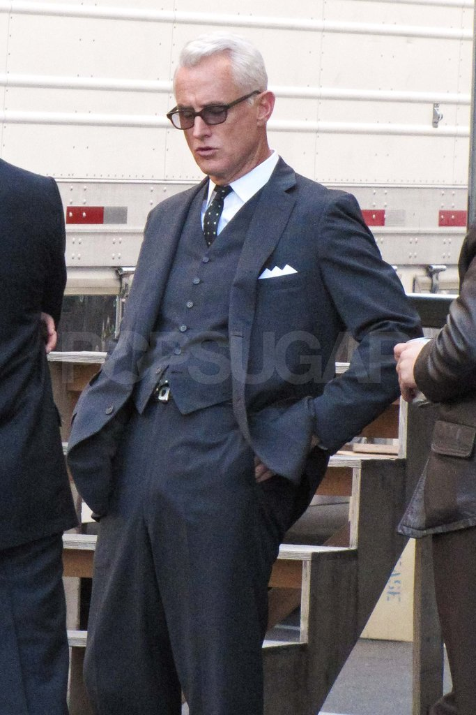 John Slattery filming Mad Men.