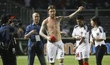 David Beckham was shirtless to play in Indonesia.