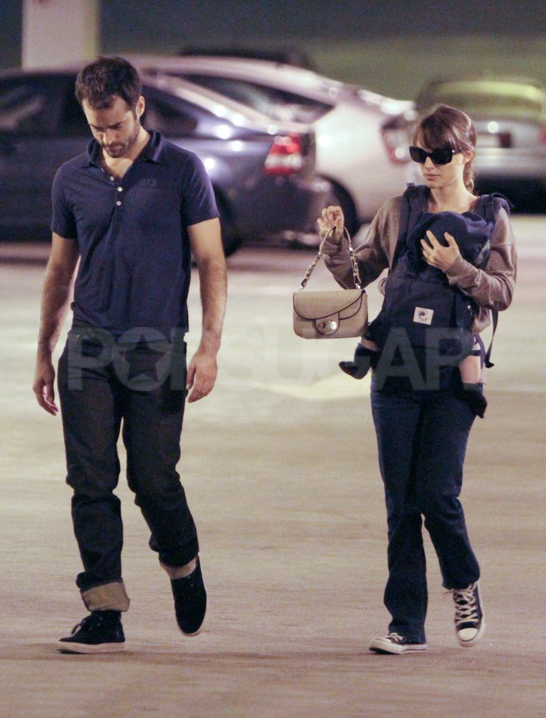 Natalie Portman and Benjamin Millepied brought their baby out to run errands.