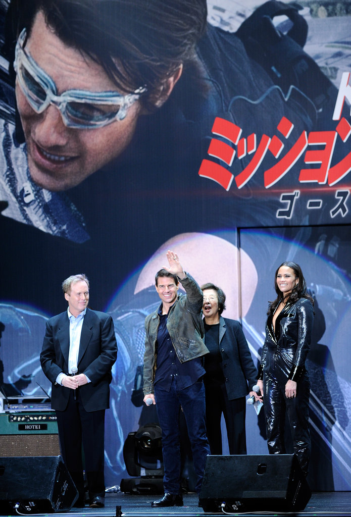 Tom Cruise took the stage in Tokyo to promote his new film.