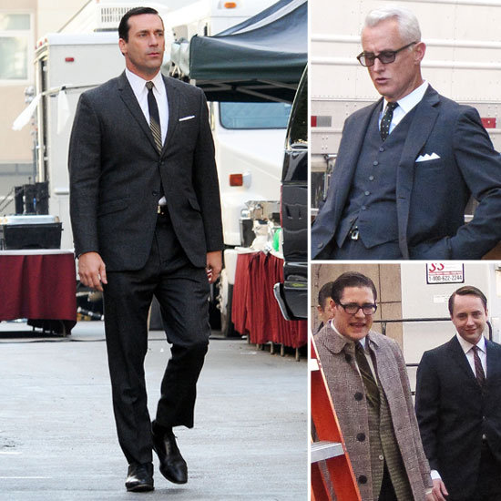 Jon Hamm and His Mad Men Hit the Set in Style