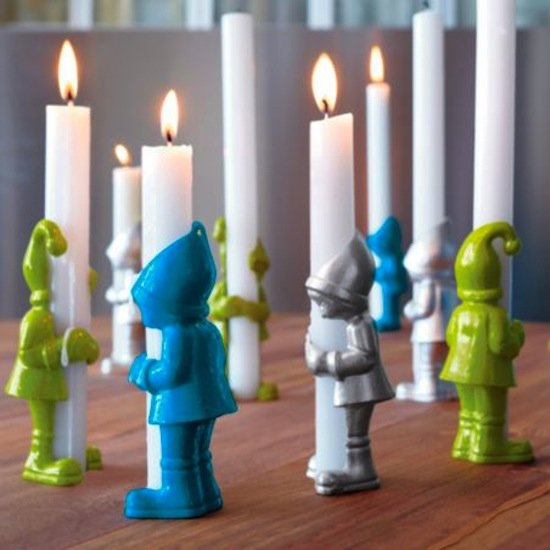 These little Elf Candleholders (on sale for $3.50) couldn't be any cuter.