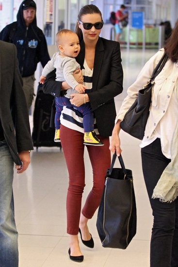 Miranda Kerr and Her Stylish Son Catch a Flight Out of Sydney