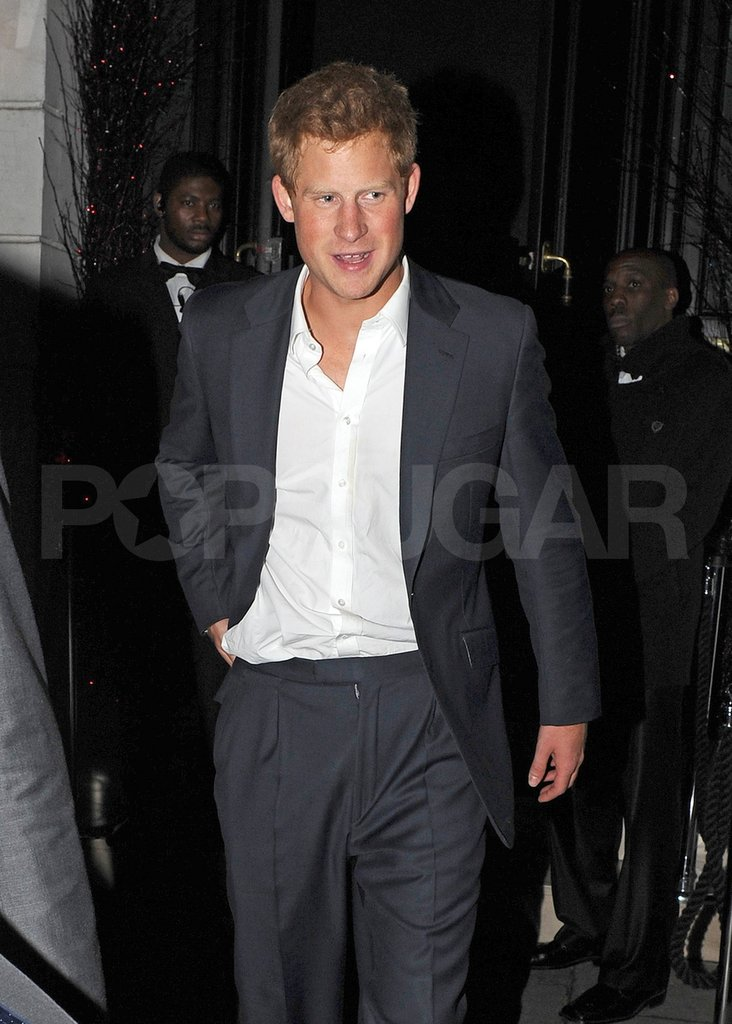 Prince Harry was very cute in his suit.