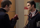 Blaine presents Kurt with a gift.  Photo courtesy of Fox