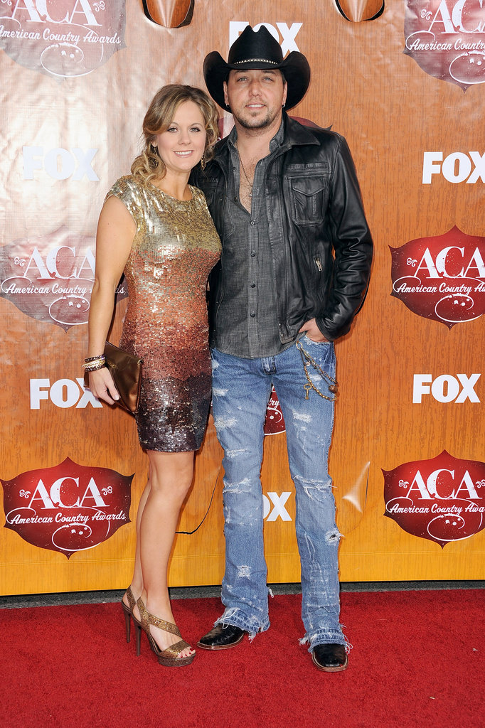 Jason and Jessica Aldean at the American Country Awards in Las Vegas.