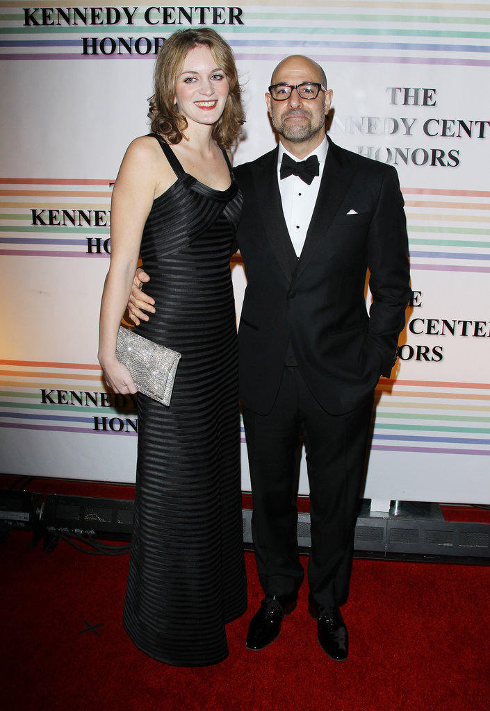 Stanley Tucci and Felicity Blunt arrived at an event in DC.