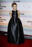 Sarah Jessica Parker glowed in a shiny black dress.