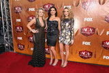 Miranda Lambert, Angaleena Presley, and Ashley Monroe at the American Country Awards.