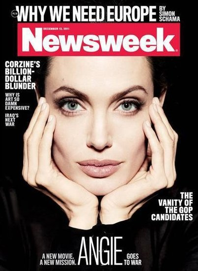 Angelina Jolie Strikes a Stunning Pose For the Cover of Newsweek