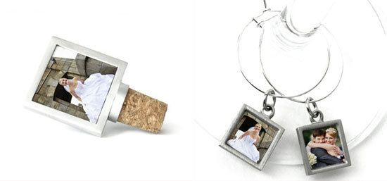 Photo Wine Glass Charm & Bottle Stopper ($25+)