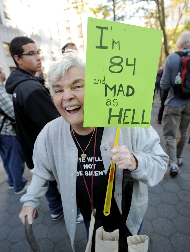 "This lady in New York was ""84 and mad as hell."""