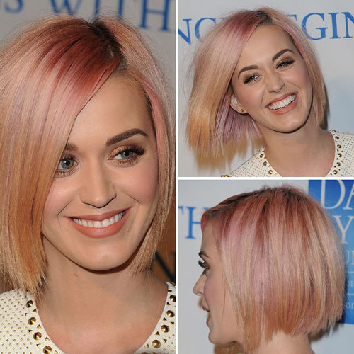 Check Out Katy Perry's Sleek Peach Bob and Beauty Look From All Angles!