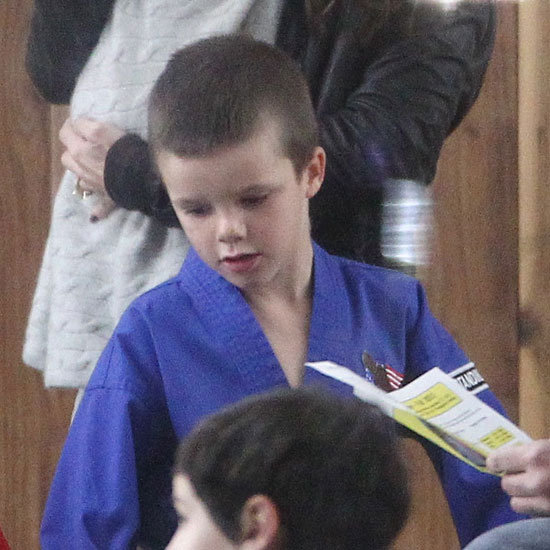 Cruz Beckham wore a karate uniform in LA.