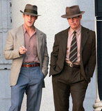 Ryan Gosling and Josh Brolin rocked suits and hats for Gangster Squad in LA.