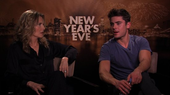 Zac Efron and Michelle Pfeiffer Talk Improv and Scene Crashing in New Year's Eve