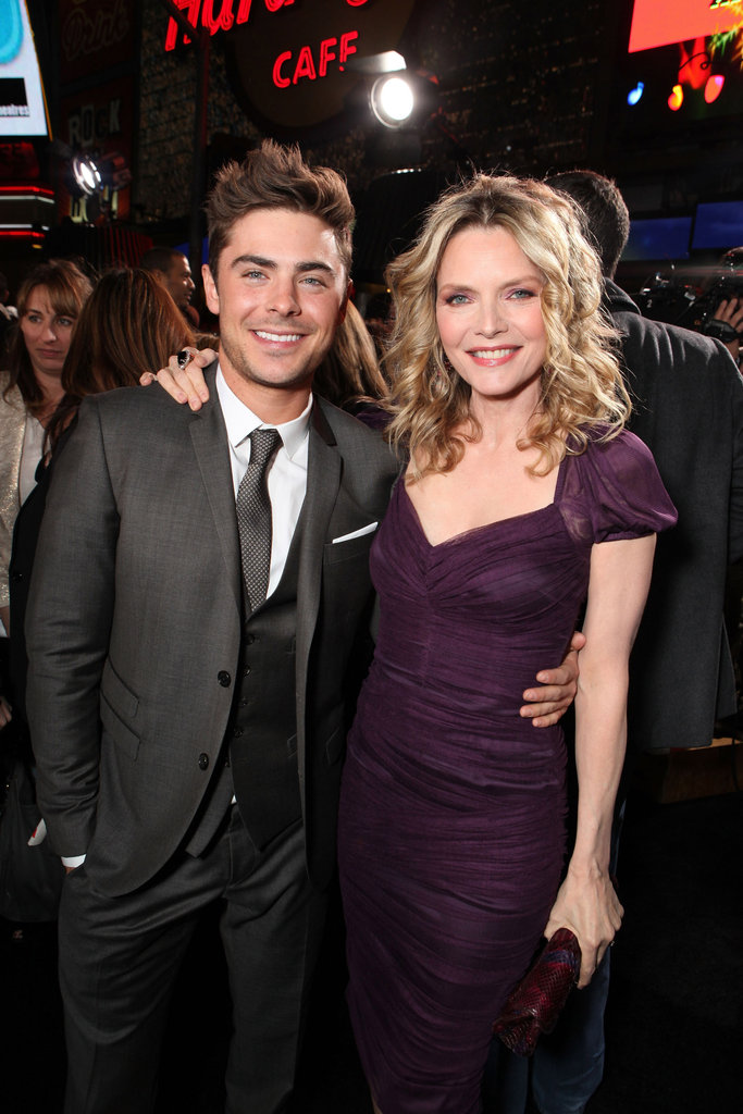 Michelle Pfeiffer and Zac Efron were happy costars.