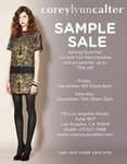 Corey Lynn Calter Sample Sale