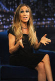 Sarah Jessica Parker went for smokey eyes in NYC.