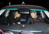 George Clooney and Stacy Keibler drove home together.