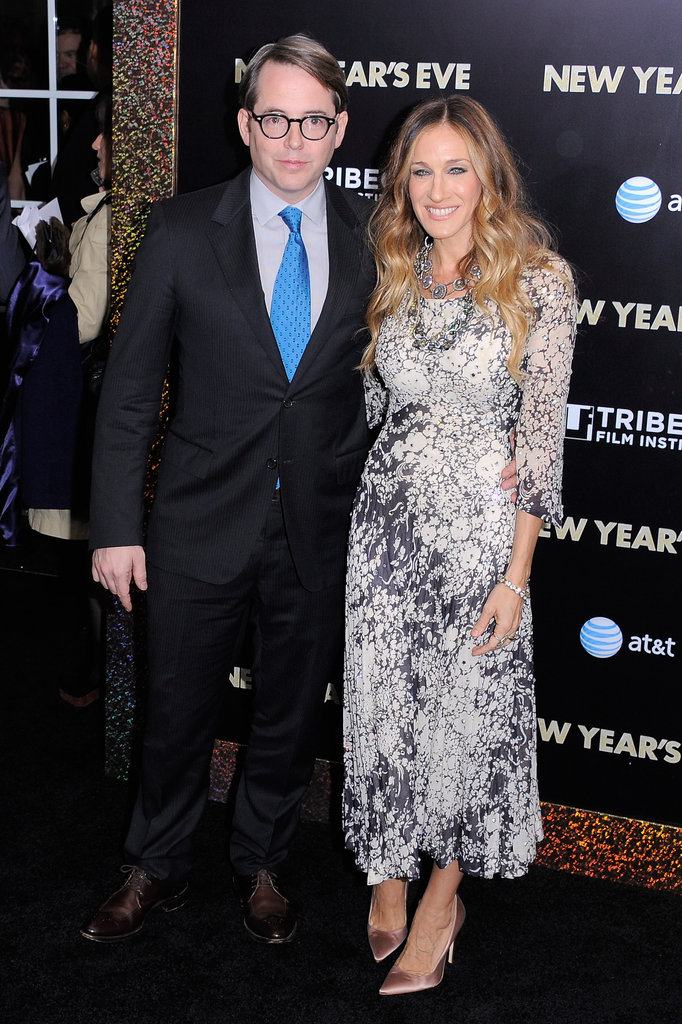 Sarah Jessica Parker and Matthew Broderick were in high spirits for the screening.