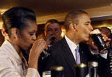 Michelle and Barack sip Guinness at a pub in Moneygal, Ireland, where Barack's great-great-great grandfather Falmouth Kearney came from.
