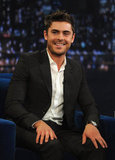 Zac Efron went clean, simple, and chic for a talk show appearance.