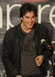 Ian Somerhalder took the stage and chatted with Vampire Diaries fans who came out to see him at a mall in Canoga Park, CA, during a February 2010 event.