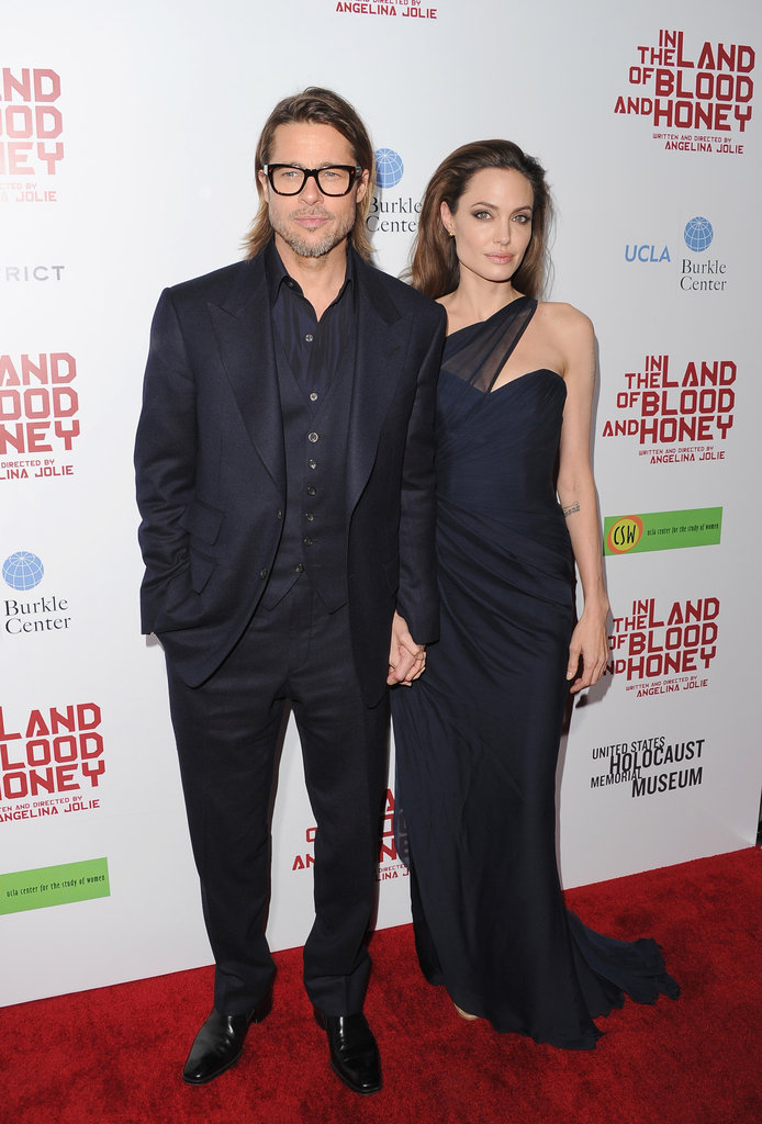 Angelina stuck with Brad.