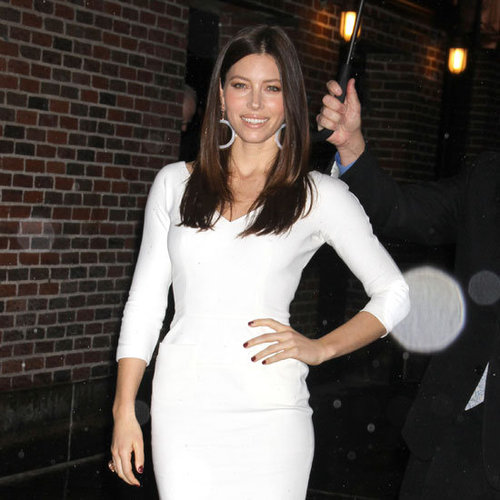 Jessica Biel in Wearing Victoria Beckham Dress Pictures
