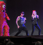 Nicole Richie and Joel Madden danced on stage during a Yo Gabba Gabba! Live show in LA in November 2010.