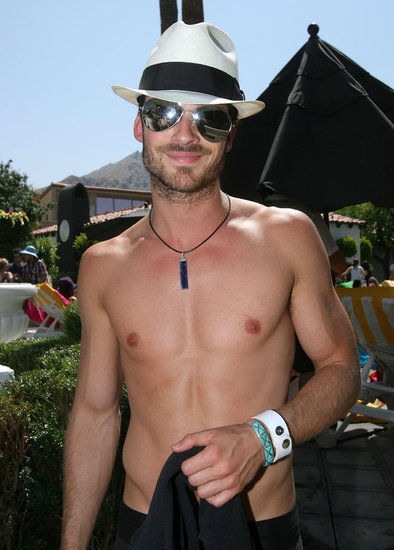 Ian Somerhalder stripped down in April 2008 at the Palm Springs GQ lounge.