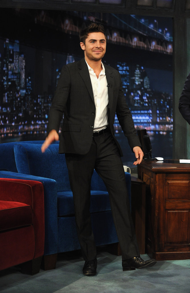 Zac Efron found his seat on Late Night With Jimmy Fallon.
