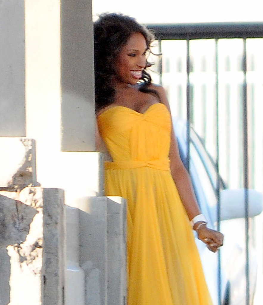 Jennifer Hudson Yellow Dress Vanity Fair Photo Shoot Pictures