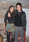 Ian Somerhalder was joined by his girlfriend and costar, Nina Dobrev, for a January 2010 soiree in NYC.