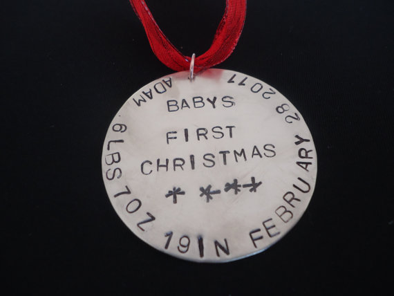 Silver Disc Ornament ($20)