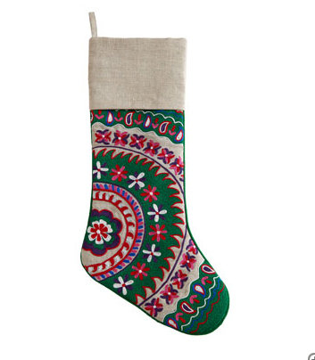 Suzani Christmas Stockings ($50)