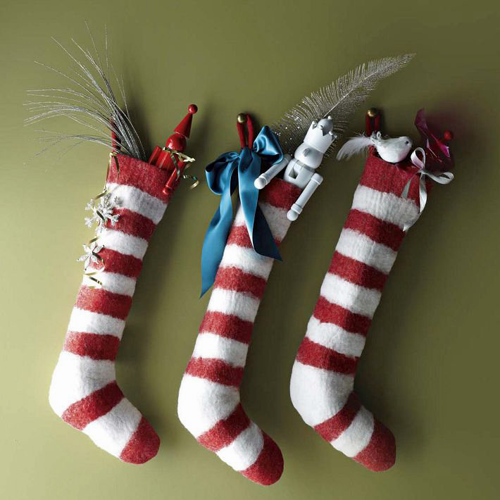 Felt Stripe Stocking ($19)