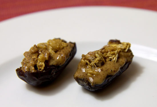 Almond Butter and Granola Filled Dates