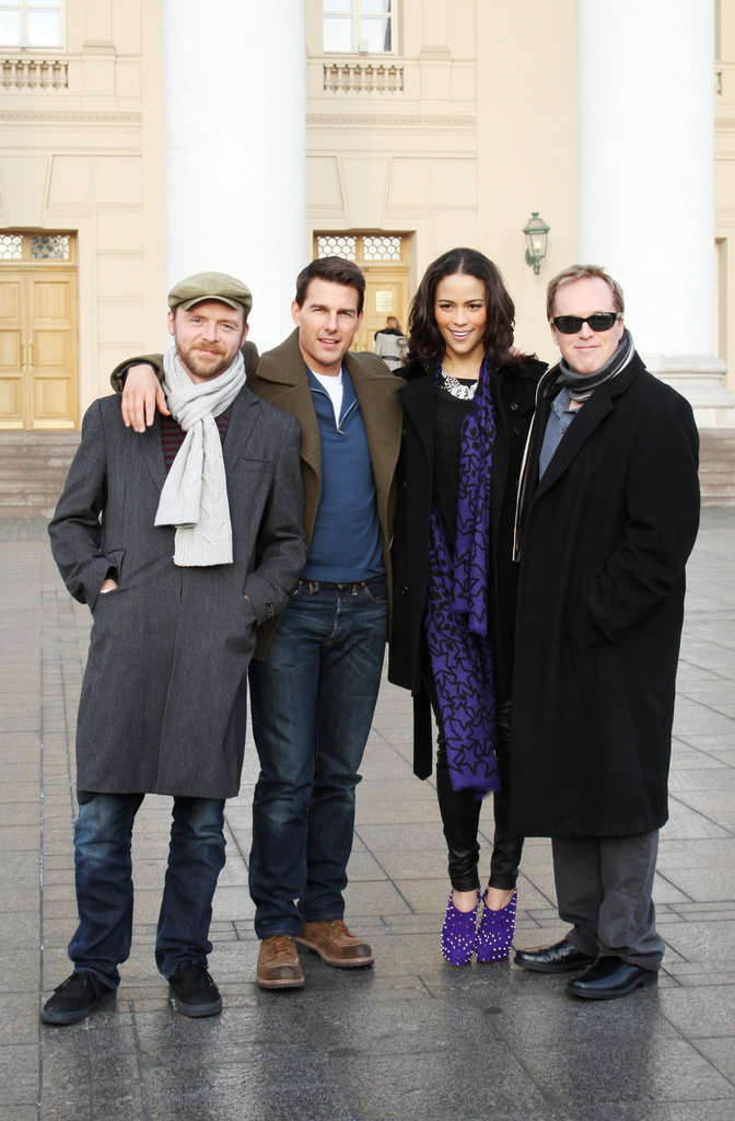 Simon Pegg, Tom Cruise, Paula Patton, and Brad Bird were in Moscow.