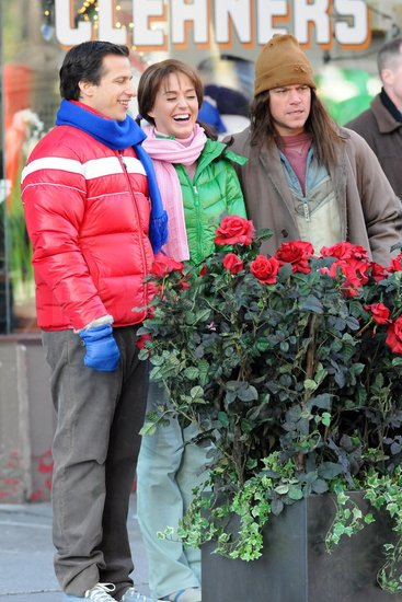Matt Damon, Katy Perry, and Andy Samberg teamed up on the street in NYC to shoot a skit for tomorrow night's episode of SNL.
