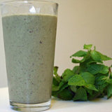 Vegan Mint Chocolate Chip Shake